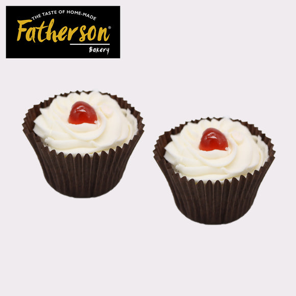 2 Victoria Sponge with Jam inside Cup Cakes - Direct Deliver