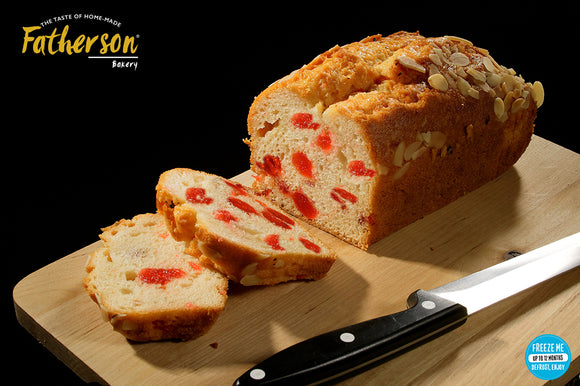 Large Cherry & Almond Cake Loaf (8 inch) - Direct Deliver