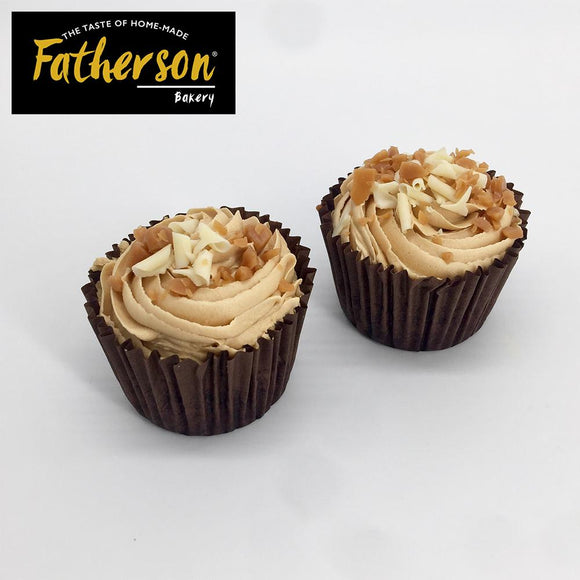 2 Salted Caramel with Toffee inside Cup Cakes - Direct Deliver