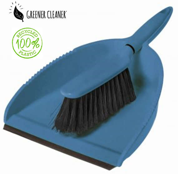 Dustpan & Brush - Blue 100% recycled material - Direct Deliver