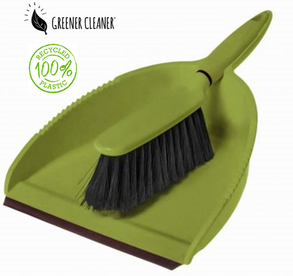 Dustpan & Brush - Green 100% recycled material - Direct Deliver