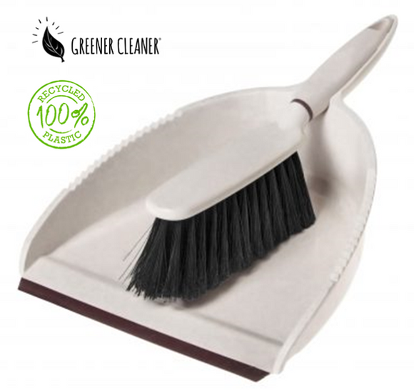 Dustpan & Brush - Cream 100% recycled material - Direct Deliver