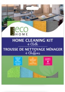Home Cleaning Kit - 4 Cloths - Microfibre - Direct Deliver