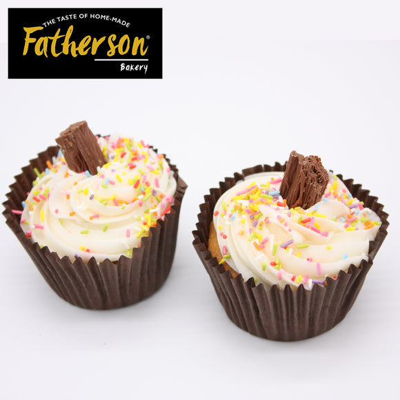 2 Ice Cream Vanilla Cup Cakes - Direct Deliver