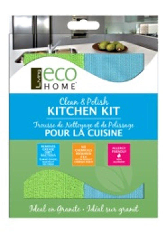 Kitchen Cleaning Kit - 2 cloths - Direct Deliver
