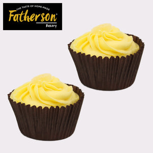 2 Lemon with Lemon curd inside Cup Cakes - Direct Deliver