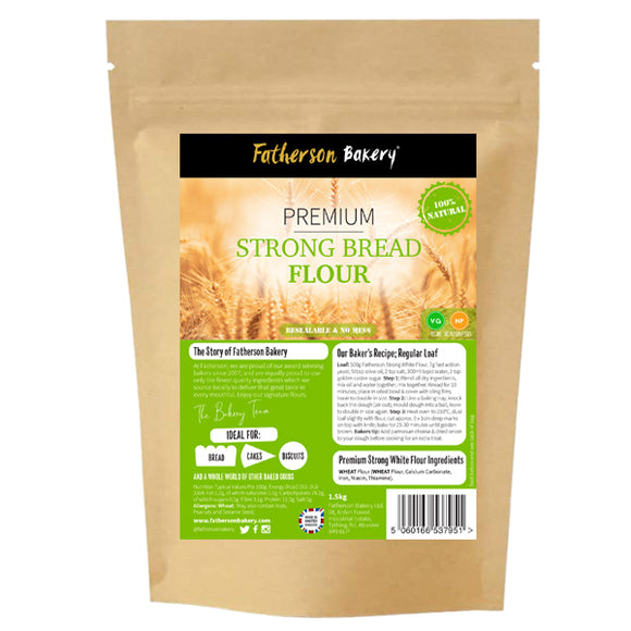 Fatherson Premium Strong Bread Flour 1.5kg. RRP £2.95 - Direct Deliver