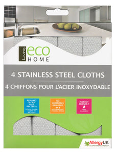 Stainless Steel Cloths - 4 Pack - Direct Deliver