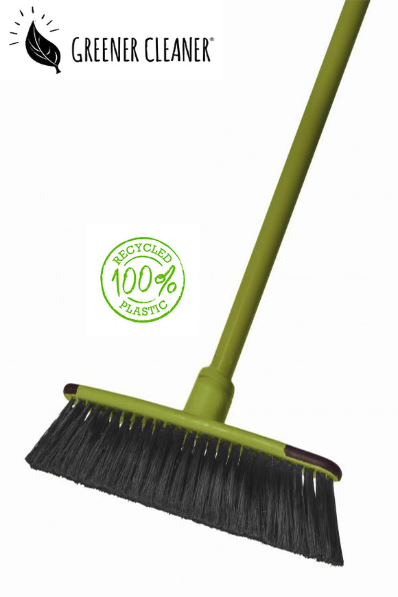 Telescopic floor broom - green 100% recycled - Direct Deliver