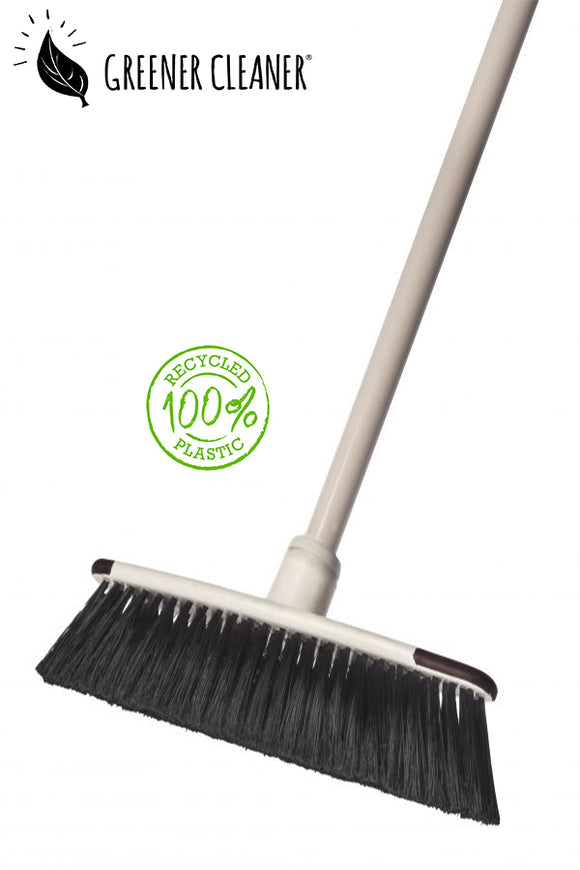 Telescopic floor broom - cream 100% recycled - Direct Deliver