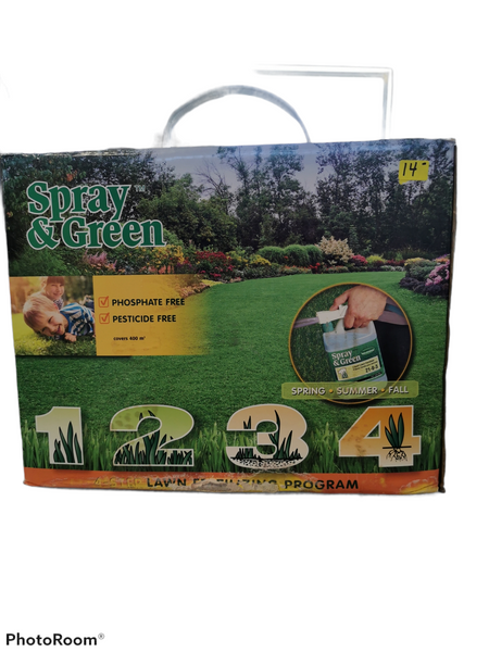 Spray & Green lawn fertilizing