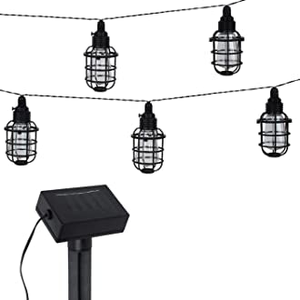 2 pack solar cafe light set