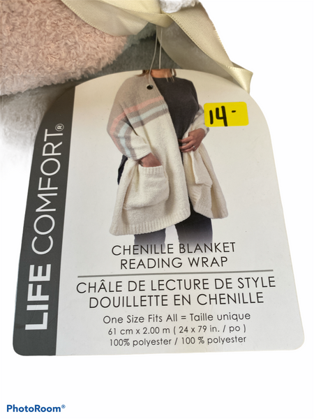 Chenille Blanket Reading wrap