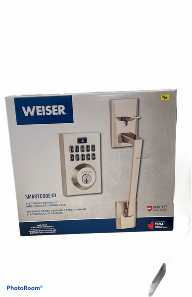 Weiser Electronic Deadbolt and Handle-set combo
