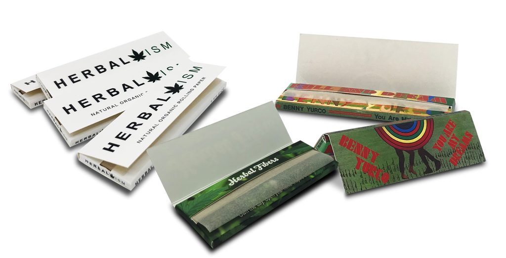 Custom rolling paper booklets