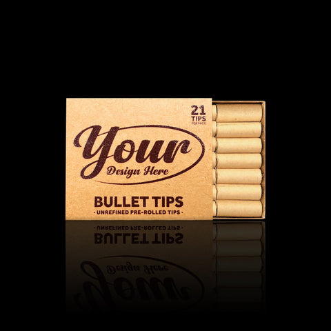 Pre Rolled Bullet Tips in Retail Packaging