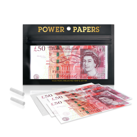 POWER PAPERS™ GBP£50 Rolling Paper