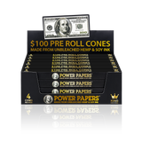 POWER PAPERS™ USD$100 Pre Rolled Cones