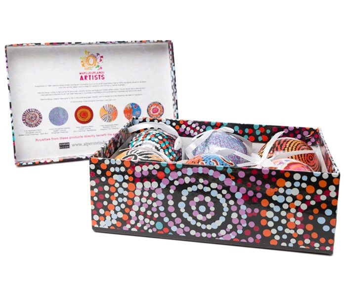 Aboriginal Art Christmas Baubles | Various Colours