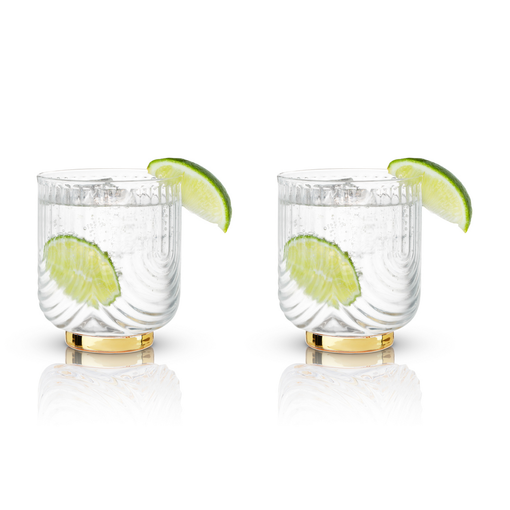 Belmont Gatsby Glass Tumblers | Set of 2