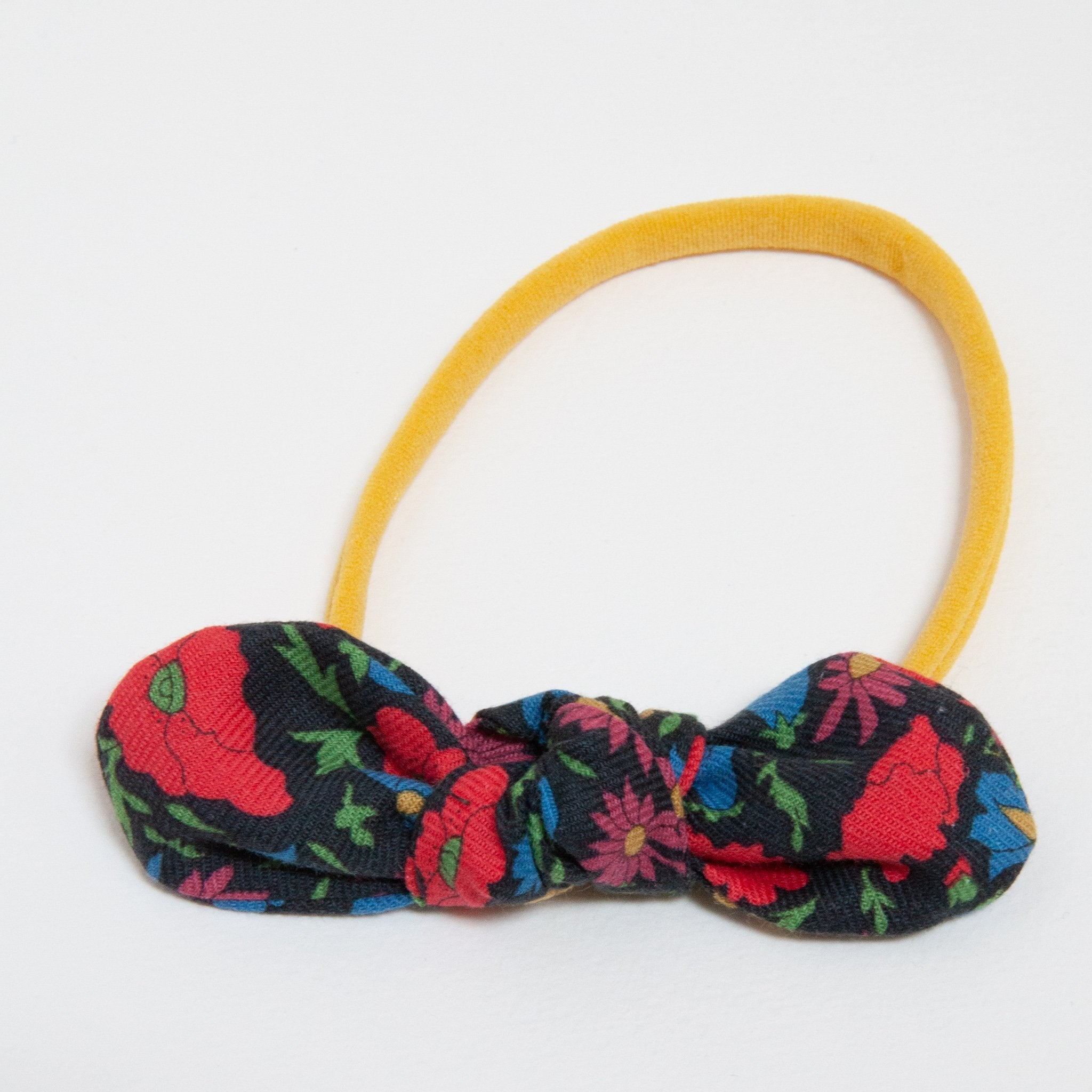 Anna Elastic Bow Headband | Liberty Poppies Field