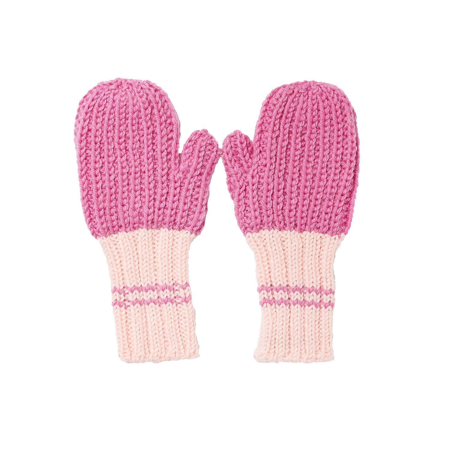 Campside Ribbed Mittens Fushia