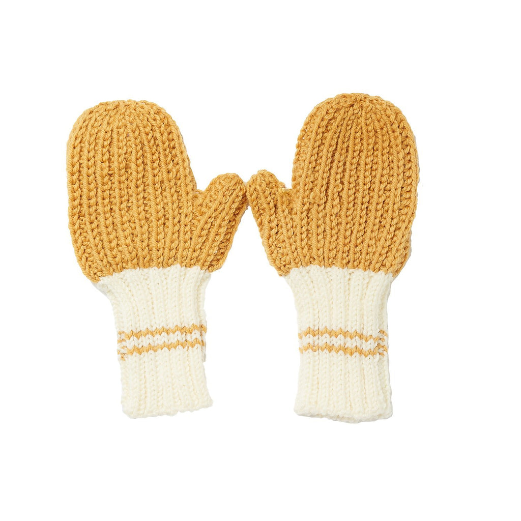 Campside Ribbed Mittens Mustard