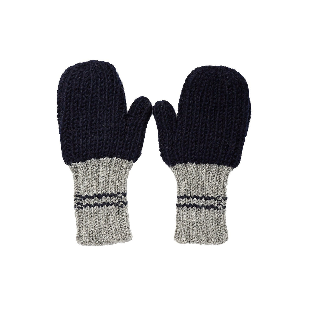 Campside Ribbed Mittens Navy