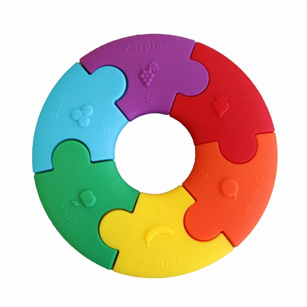 Colour Wheel Puzzle Teether | Rainbow Bright