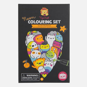 Neon Glow Friends Colouring Set