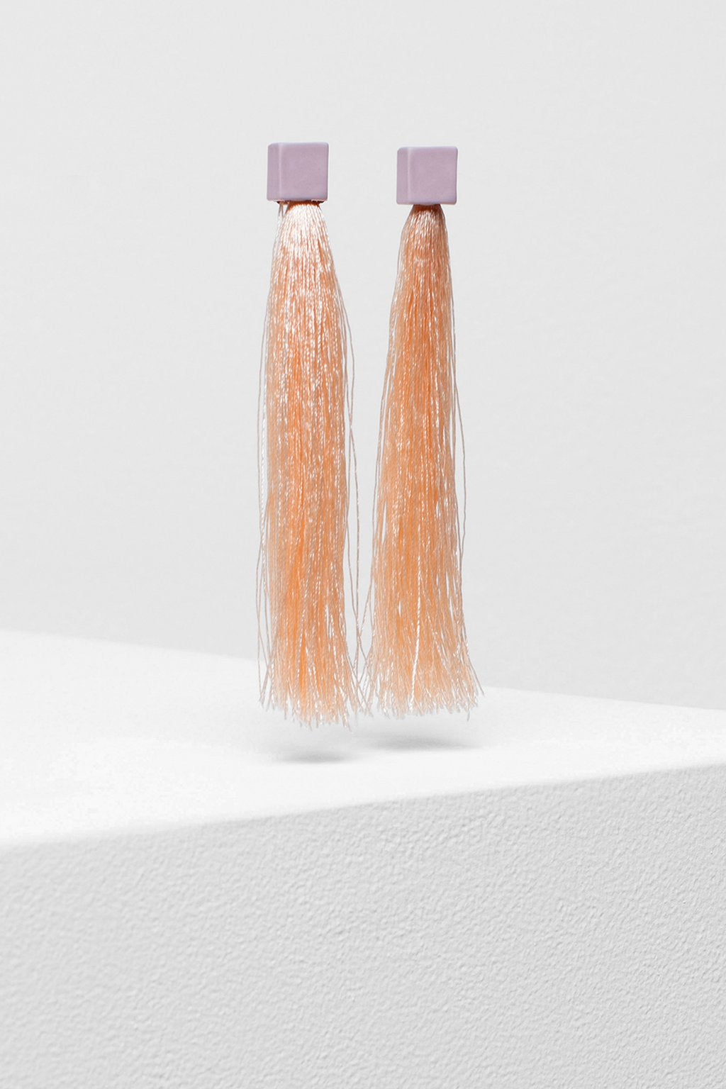 Bari Tassel Earrings | Barely Pink