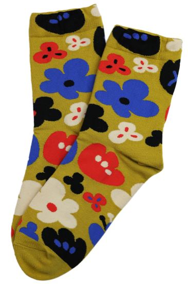 Fabulous Flower Socks | Yellow