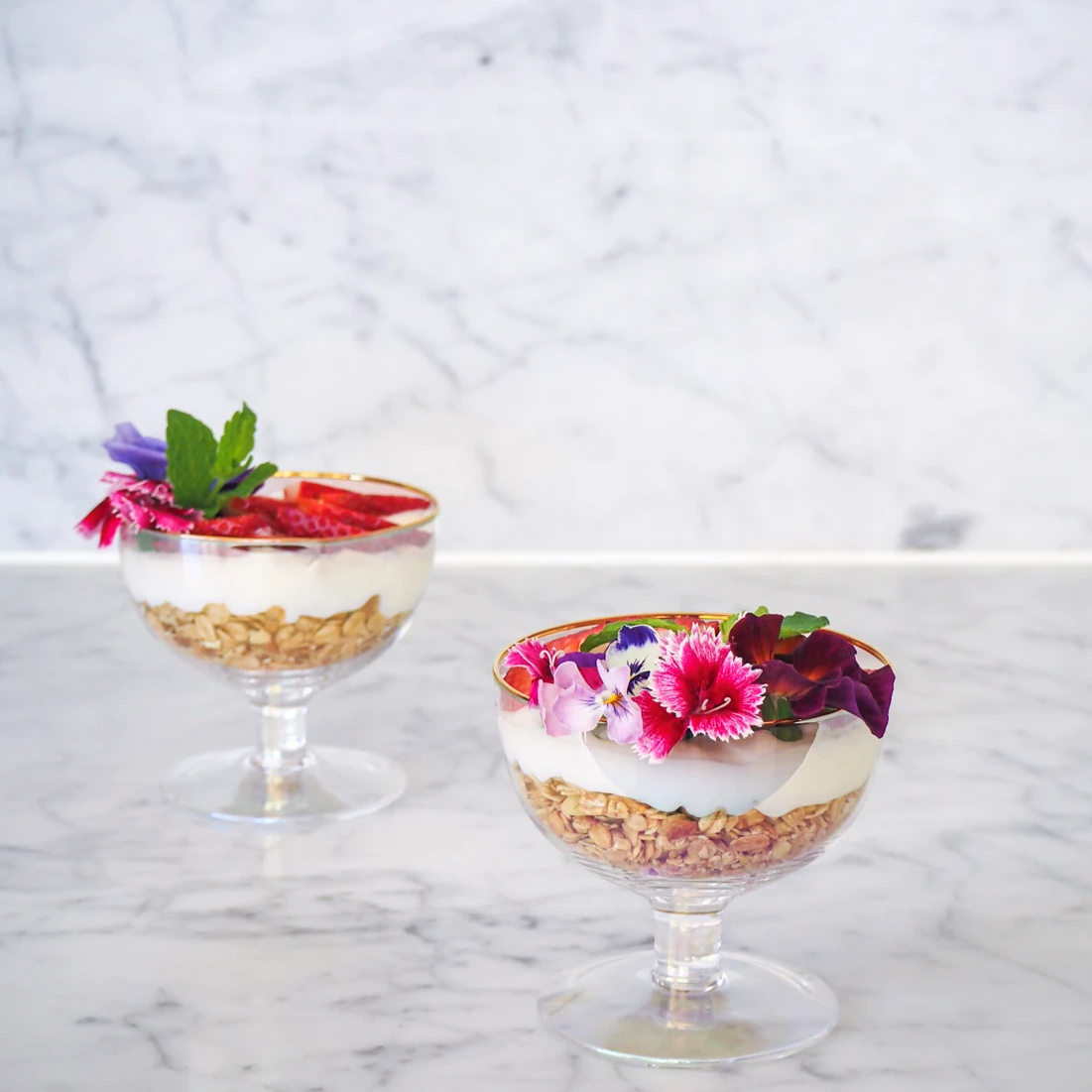 Lustre Footed Bowls | Pearl