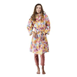 Petal Power Linen Robe | One Size