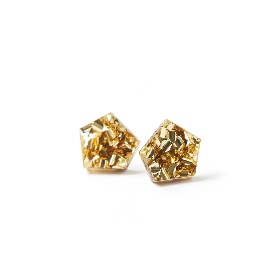Gem Studs | Gold Dust