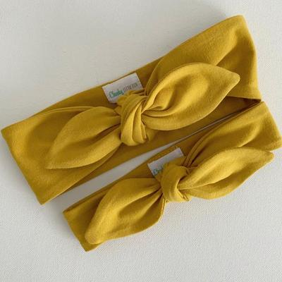 Top Knot Headband | Mustard