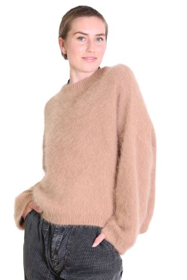 Montreal Angora Knit Sweater | Musk