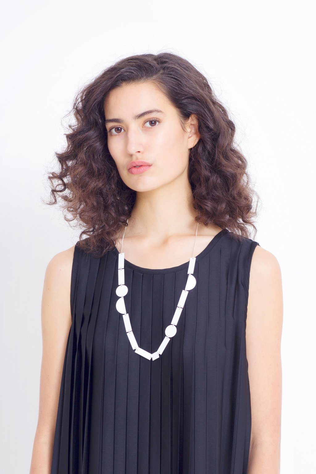 Eren Long Necklace | White