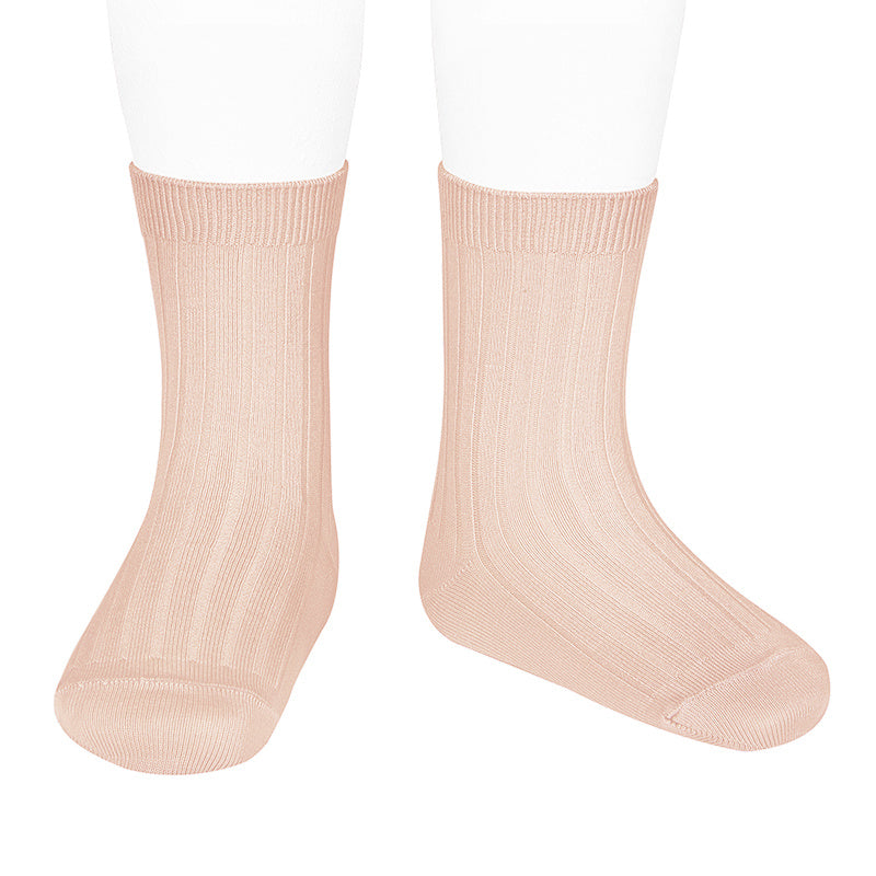 Nude Rib Ankle Socks 674