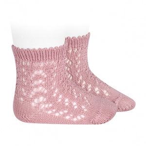 Pale Pink Open Side Ankle Socks 526