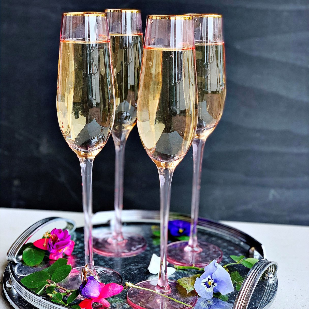 Champagne Flutes | Pink