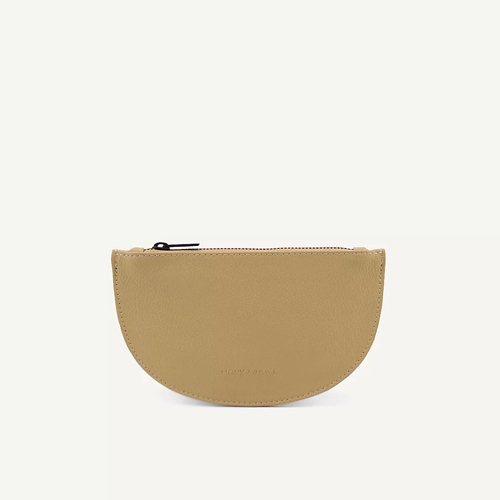mondo half moon wallet | straw