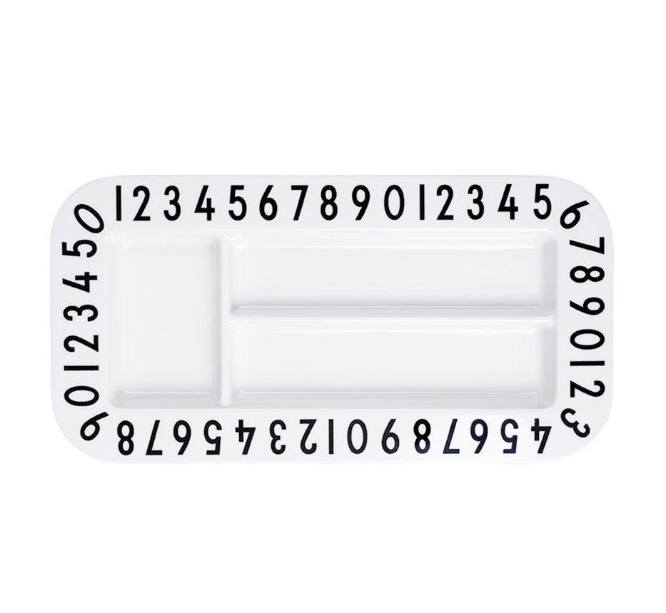 Snack Plate Rectangular | Numbers