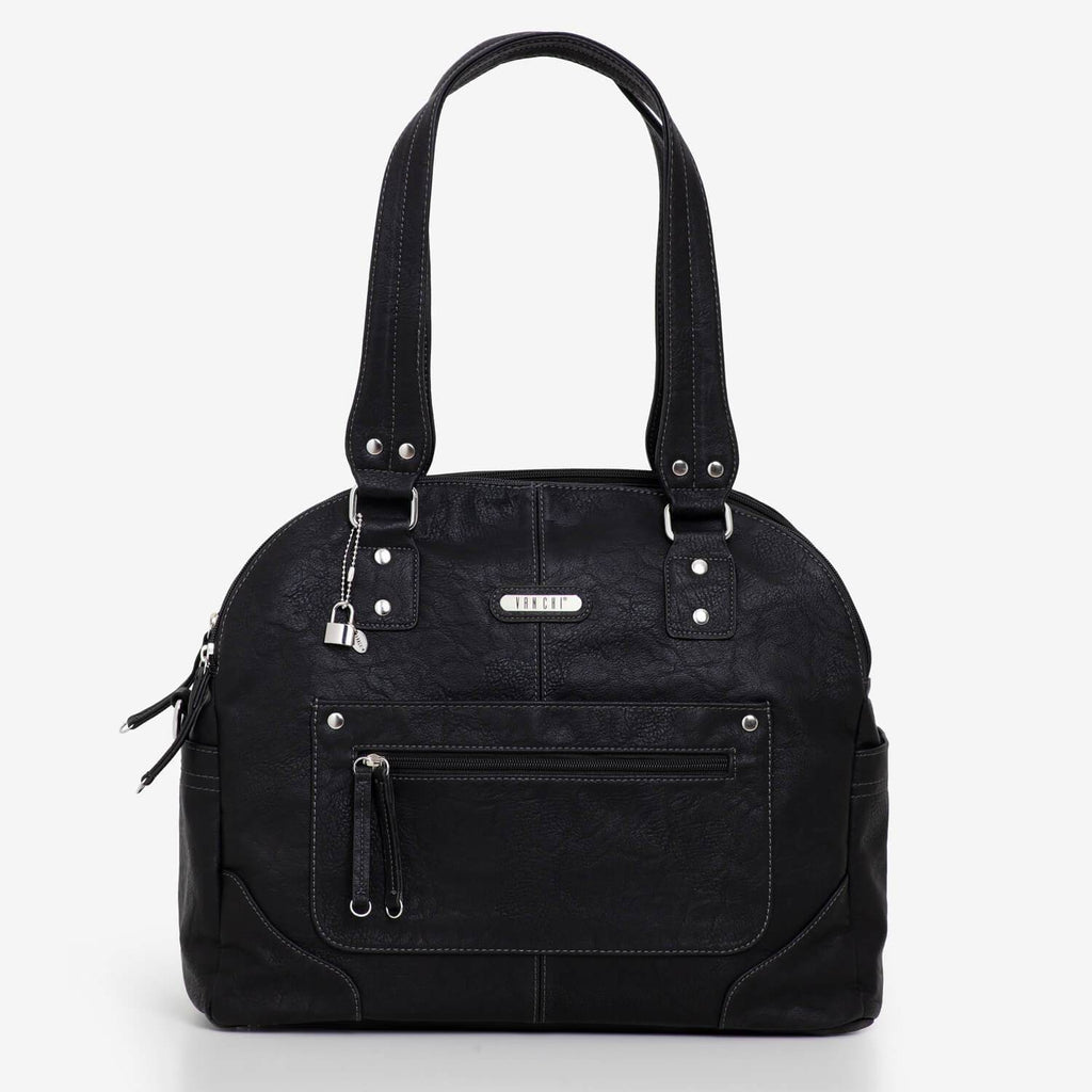 Tuscan | Black Nappy Bag