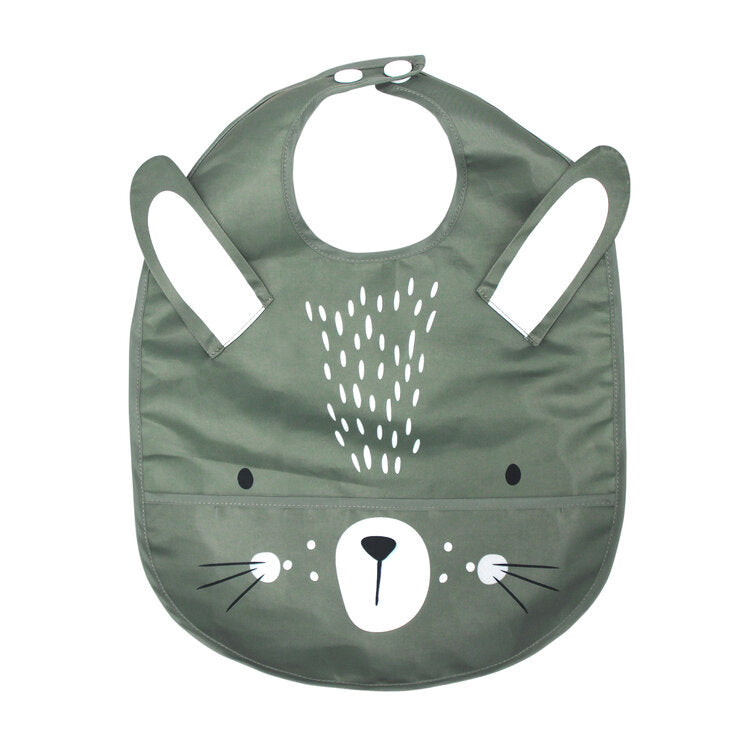 Wipeable Feeding Bib | Sage Bunny