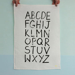 Alphabet Tea Towel