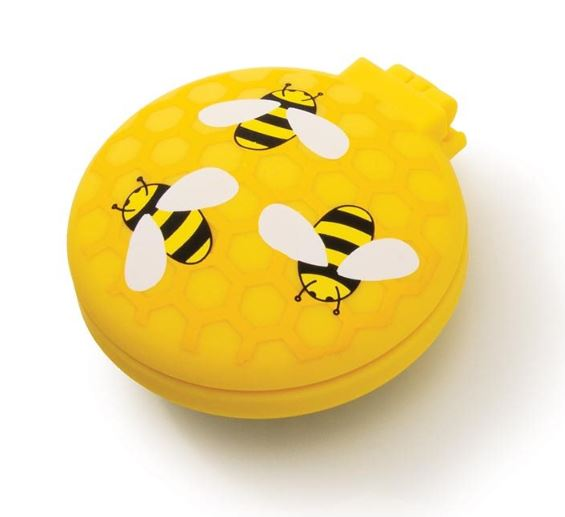 Buzzing Bees Compact Hairbrush | Yellow