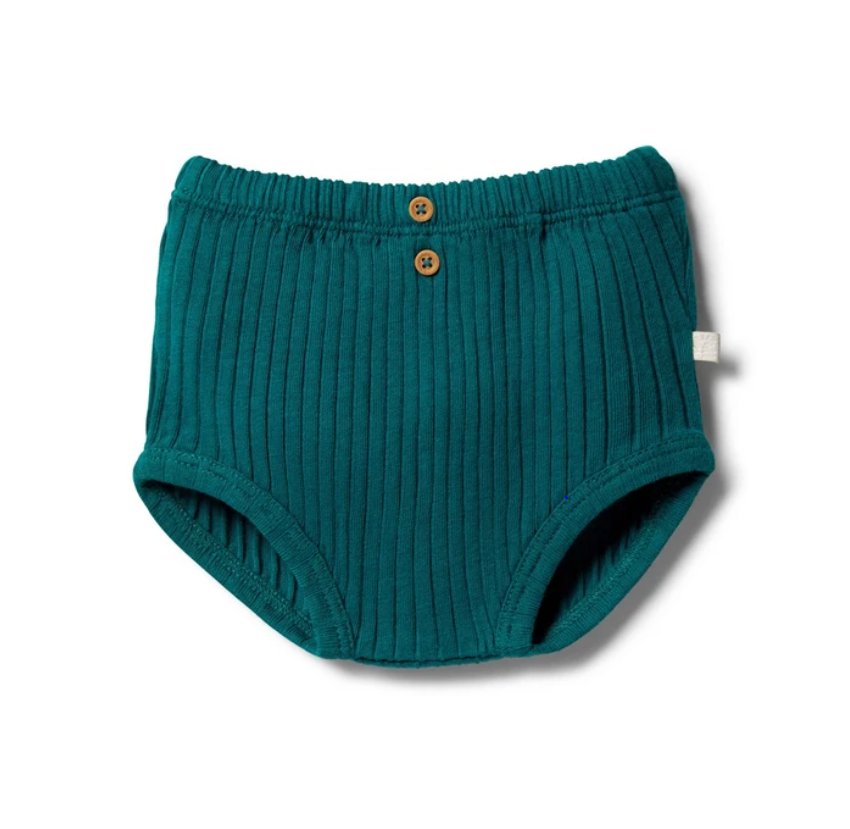 Organic Nappy Pant | Bottle Green