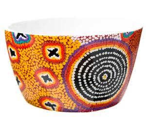 Aboriginal Art Bone China Bowl | Ruth Stewart
