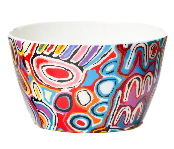 Aboriginal Art Bone China Bowl | Judy Watson